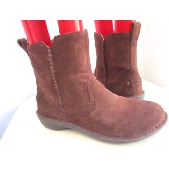 3cd812b8c27 UGG Neva Suede Leather Shearling Zip Ankle Boots